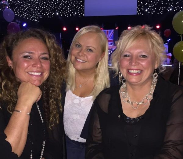 Jane Kelly, Hayley Kay and Shirley Hunt, enjoying the switch off party