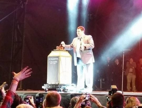 Peter Kay, switching on Blackpool Illuminations in 2014