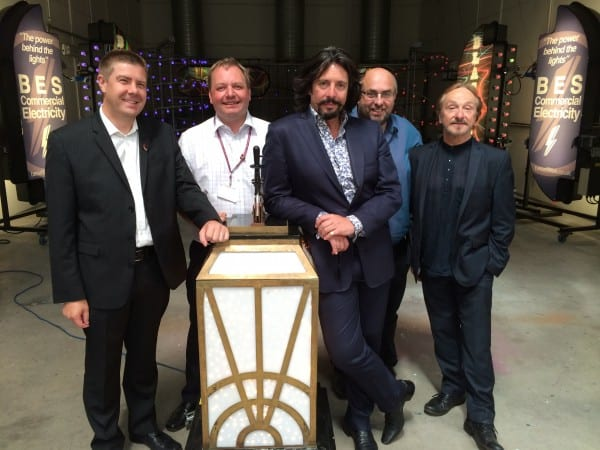 Laurence Llewelyn Bowen with the Switch On switch