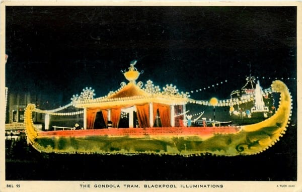 Gondola Tram, Tuck Postcards, History of Blackpool Illuminations