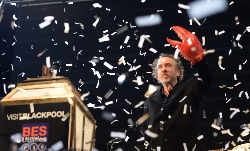 Hollywood Director Tim Burton switches on Blackpool illuminations in 2015