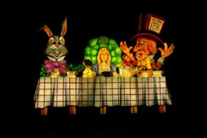 The Old Alice in Wonderland - one of the tableaux at Blackpool North Shore