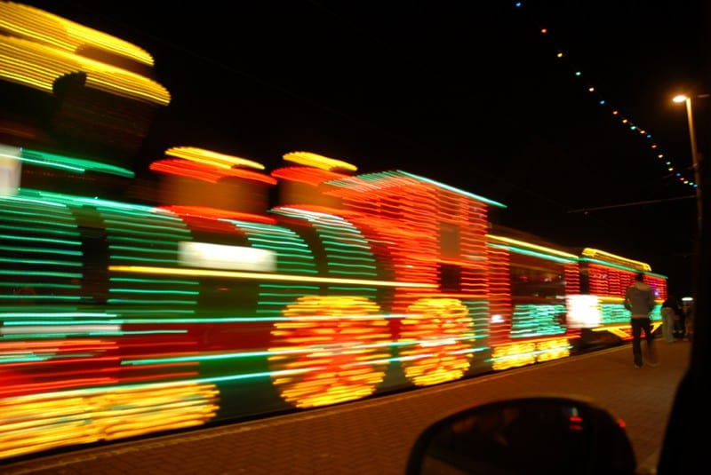 Western Train Illuminated Tram