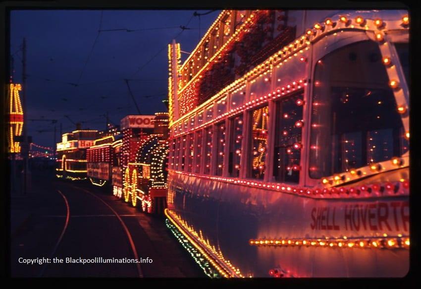 Illuminated trams - Old Blackpool Illuminations photos